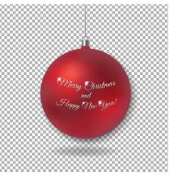 christmas glass ball vector image