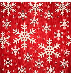 Christmas wooden snowflakes pattern vector image