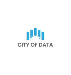 City of data logo design inspiration vector