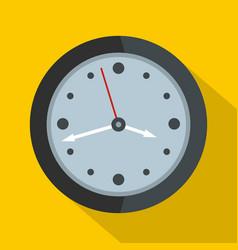 clock design icon flat style vector image