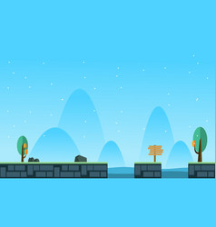 Collection stock game background landscape style vector