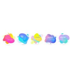 color gradient abstract liquid splash shape vector image