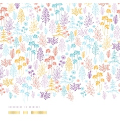 Colorful flowers and plants horizontal seamless vector image