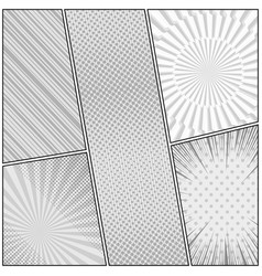 Comic book page monochrome design template vector