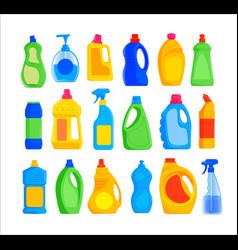 detergent bottles set vector image