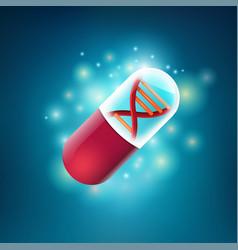 Dna pill vector