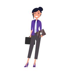 Elegant business woman in formal wear girl vector