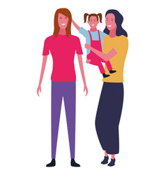 Family and kids cartoons isolated vector