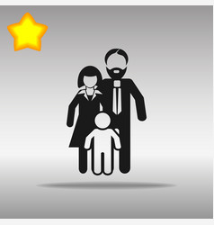 Family black icon button logo symbol concept vector