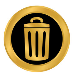 garbage button on white vector image