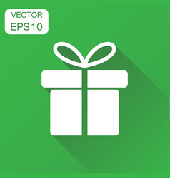 gift box icon business concept gift pictogram on vector image