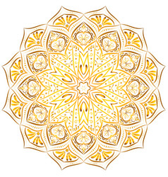 Golden mandala pattern on white background vector