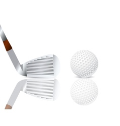 Golf club and a ball vector image