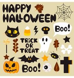 Halloween cartoon set vector