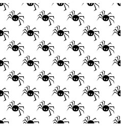 halloween pattern with spiders on a white vector image