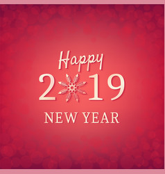 happy new year 2019 elegant delicate holiday vector image