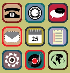 Icon Set for Mobile Phone vector image