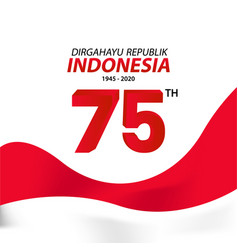 Indonesia independence day greeting card design vector