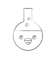 Laboratory tube test kawaii character vector