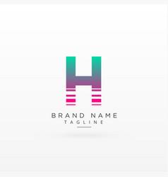 Letter h logo type concept design vector