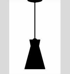 lighting fixture dark silhouette vector image