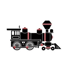 Locomotive icon simple style vector image