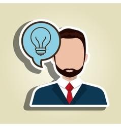 man idea bubble speak vector image