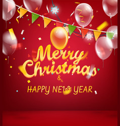 merry christmas and happy new year vertical vector image