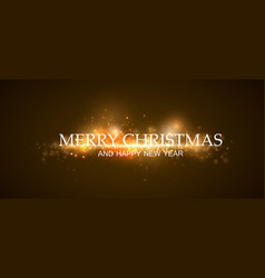 merry christmas colorful bokeh for your design vector image