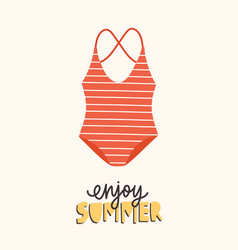modern seasonal composition with enjoy summer vector image