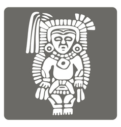 Monochrome icon with American Indians art and ethn vector