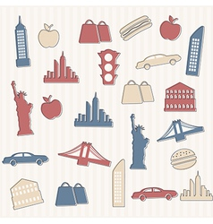 New York seamless pattern vector