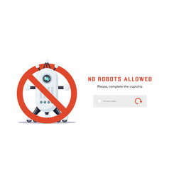 no robots allowed vector image