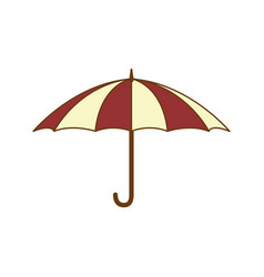 open umbrella object vector image