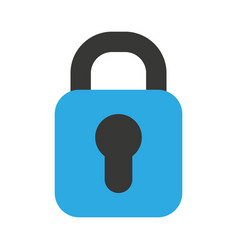 padlock secure isolated icon vector image