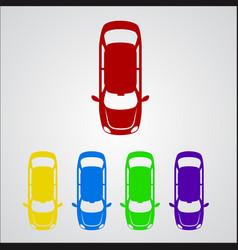 parking zone signalcolor car icon vector image