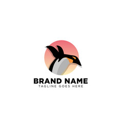 Penguin logo design template icon element vector