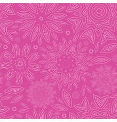 Pink abstract flowers texture seamless pattern vector