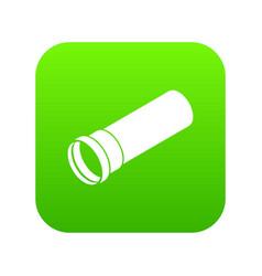 plastic pipe icon green vector image