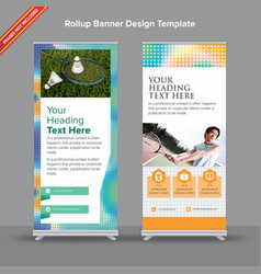 Premium rollup banner with mesh duotones vector