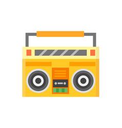 Retro blaster cassette tape recorder stereo record vector