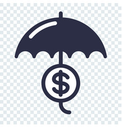 Safe and secure investment icon vector