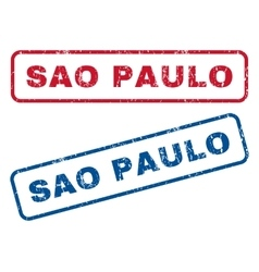 Sao Paulo Rubber Stamps vector