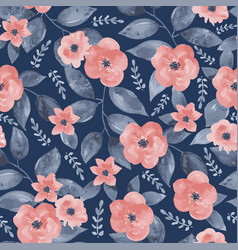 Seamless vintage floral background vector