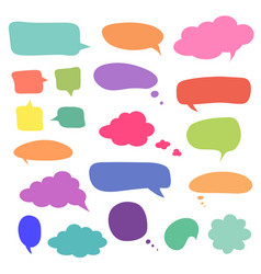 Set blank colorful speech bubbles and balloons vector