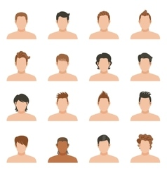 Set Icons Of Hairstyle Man vector