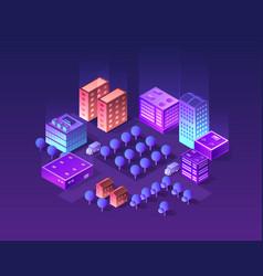 set of violet colors vector image
