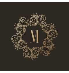 Simple and elegant monogram design template with vector image