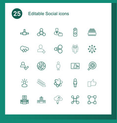 social icons vector image