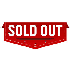 Sold out banner design vector